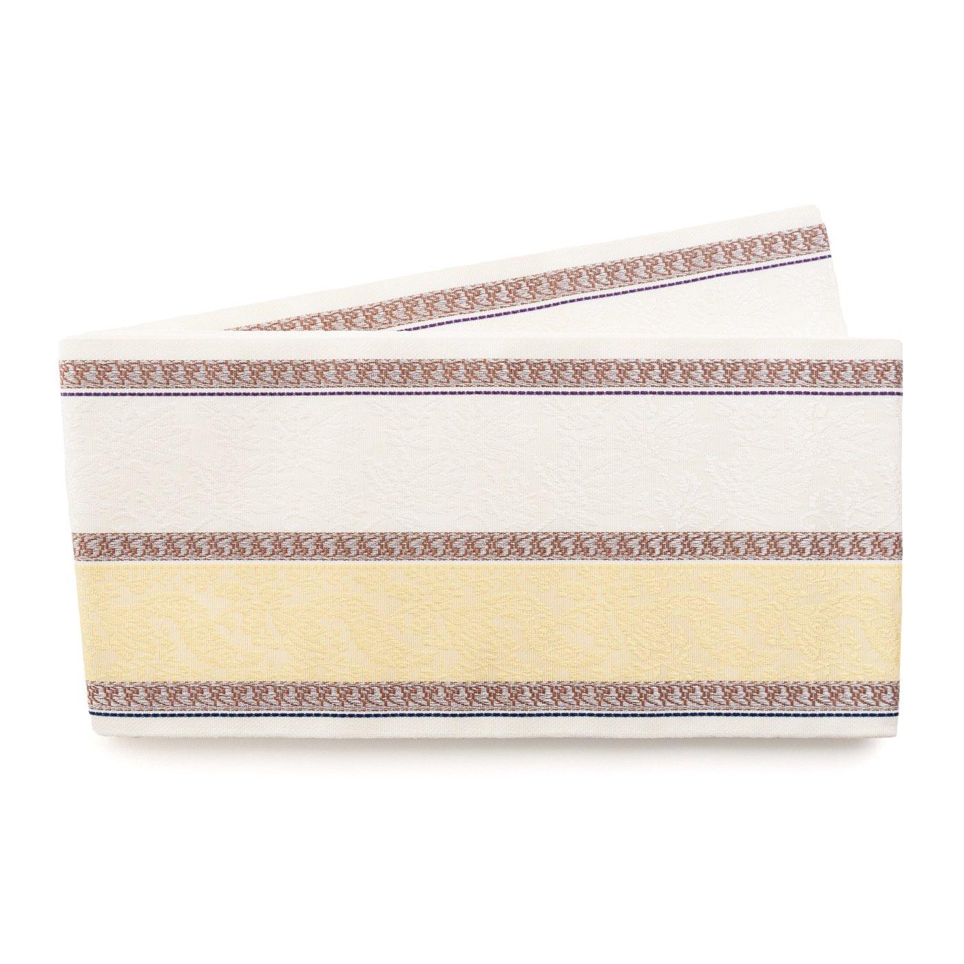 「博多小袋帯 黄色と白の縞」の商品画像