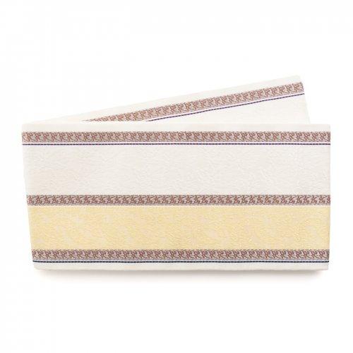 博多小袋帯 黄色と白の縞のサムネイル画像