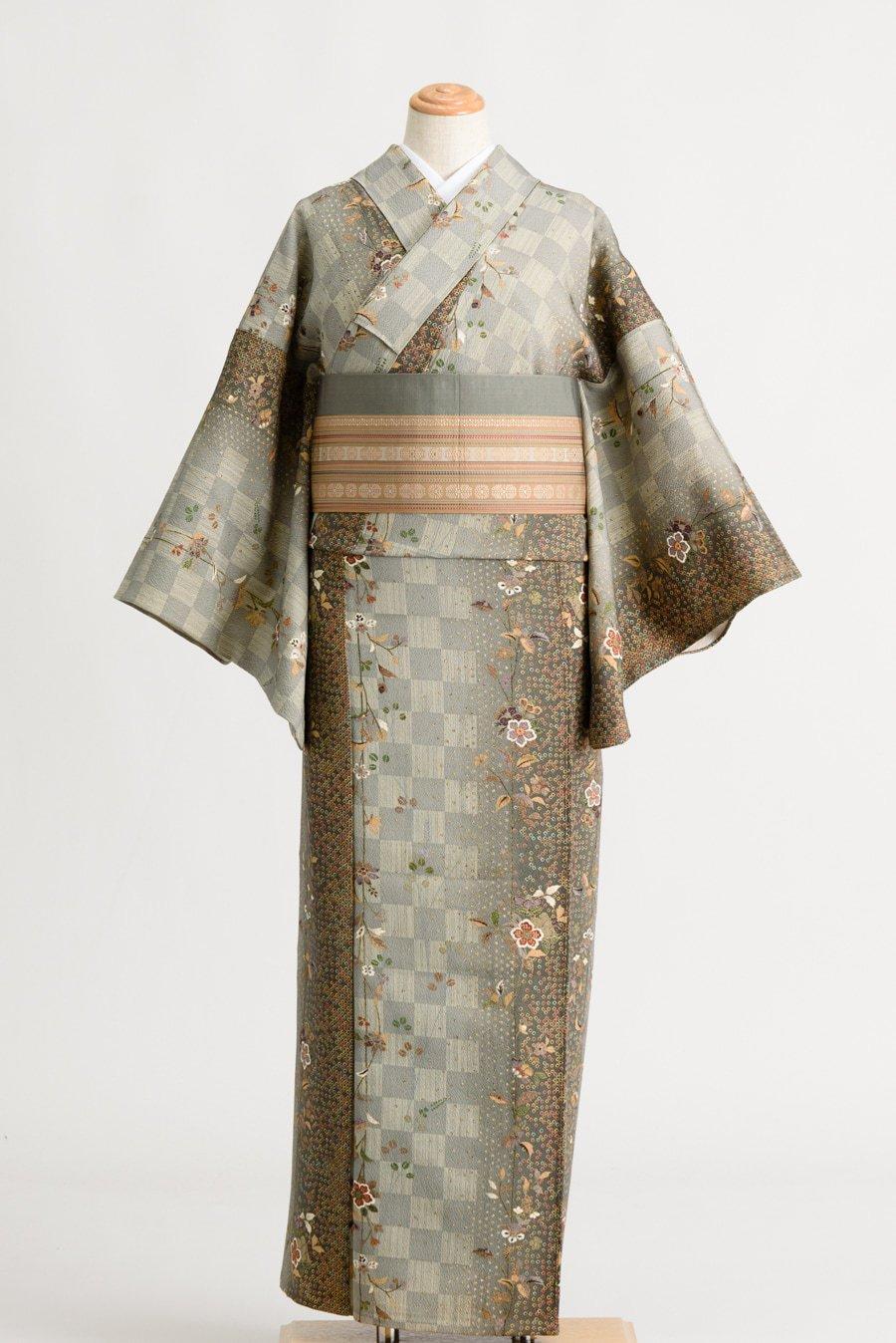 「単衣 市松と唐花」の商品画像