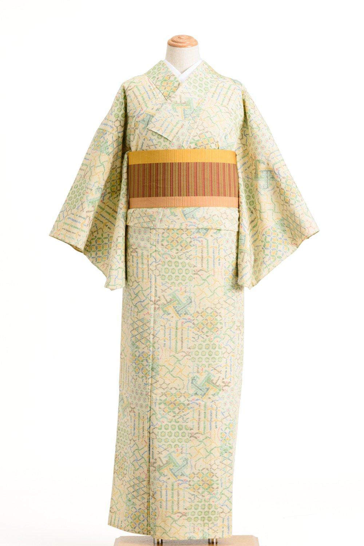 「単衣 紬 鹿の子 青海波 七宝など」の商品画像