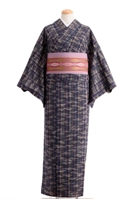 「単衣 紬 縞と霞」の商品画像