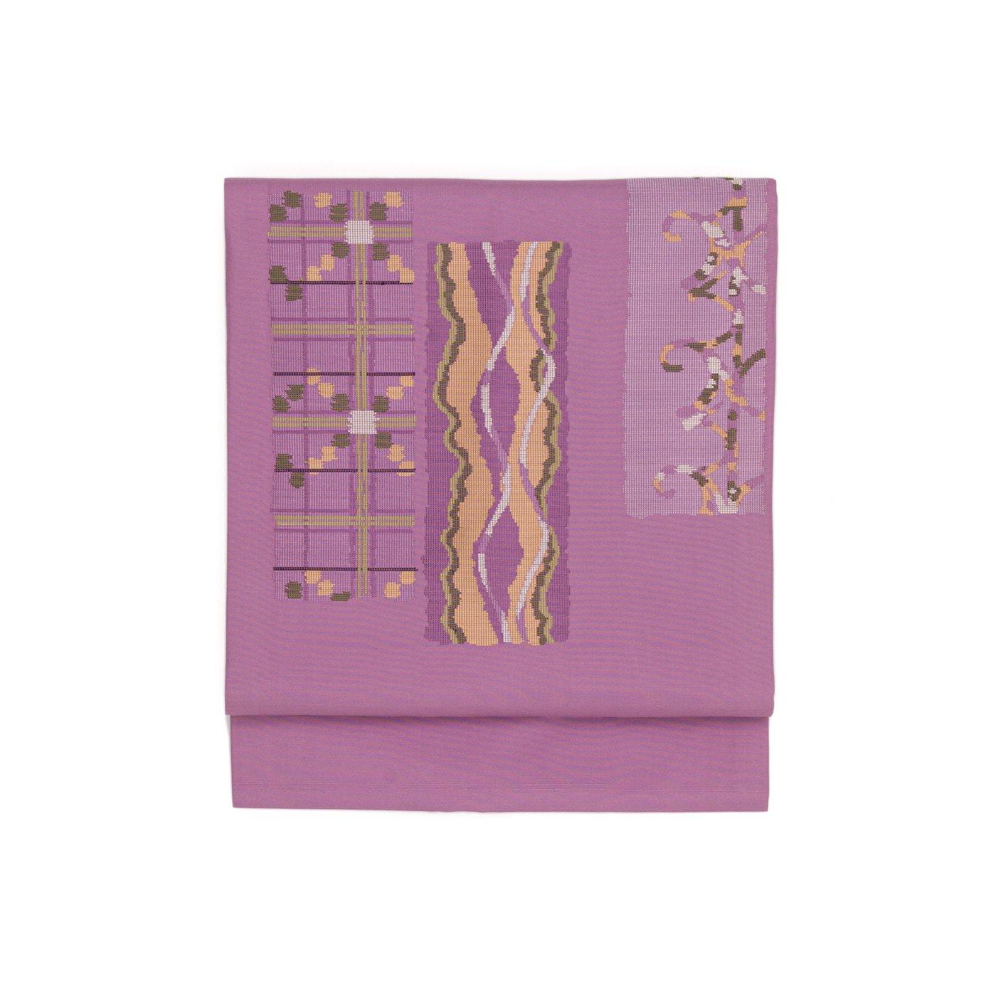 「紫の地 格子やよろけ縞」の商品画像