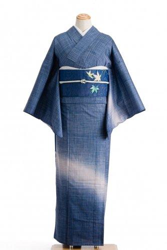 単衣 紬付け下げ ブルーグラデーションのサムネイル画像