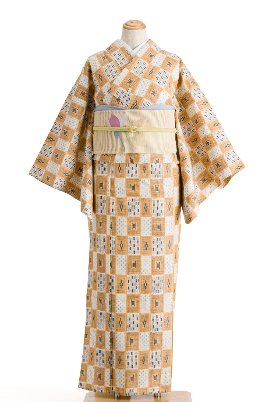 「単衣 市松に絣柄」の商品画像