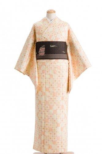 単衣 紬 四角並べのサムネイル画像
