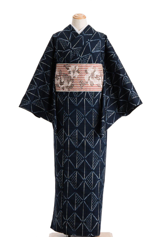 「単衣 紬 ツートンの菱」の商品画像