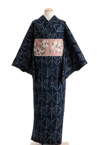 単衣 紬 ツートンの菱のサムネイル画像