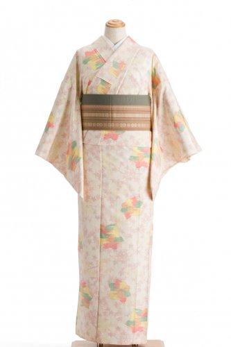 単衣 紬 虹色紅葉のサムネイル画像