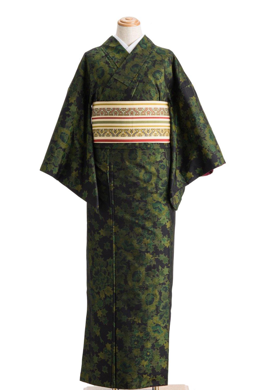 「大島紬 横双 グリーンの花」の商品画像