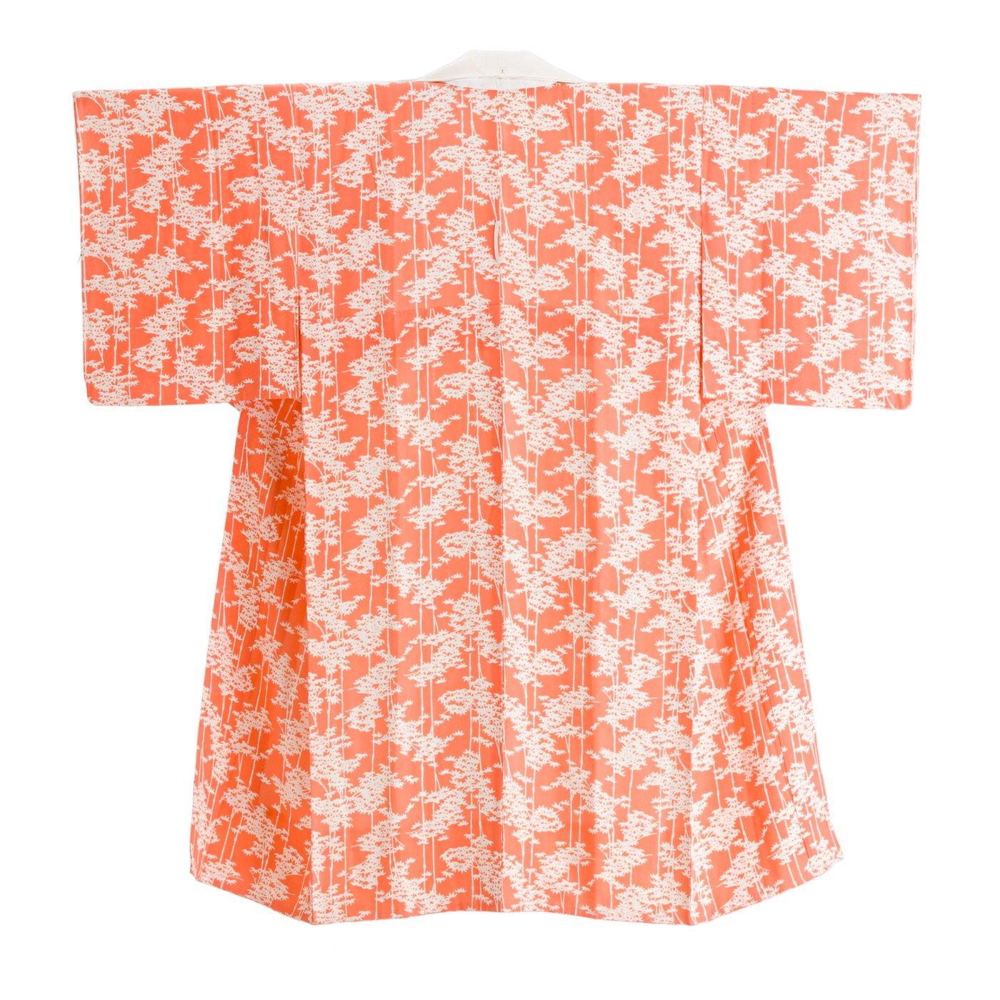 「長襦袢 サーモンピンクに竹」の商品画像