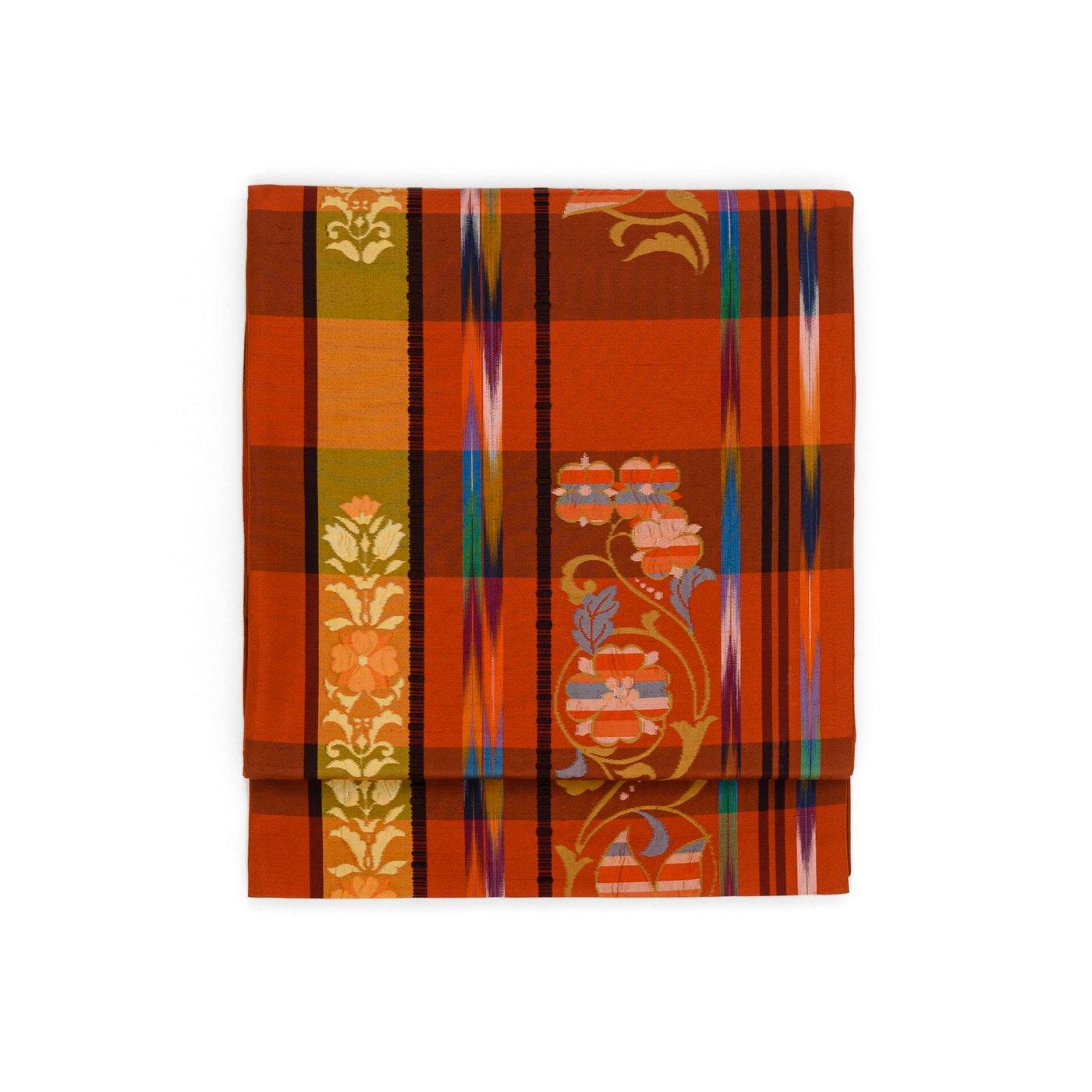 「花と格子と細い矢羽根」の商品画像