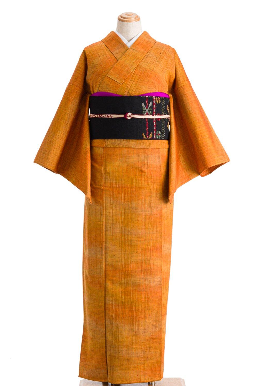 「単衣 紬 オレンジ暈し」の商品画像