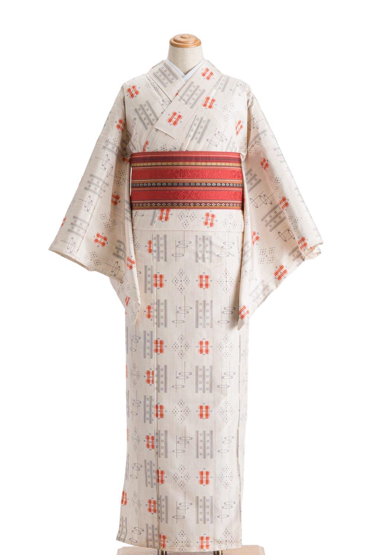 「単衣 紬 菱や井桁など」の商品画像
