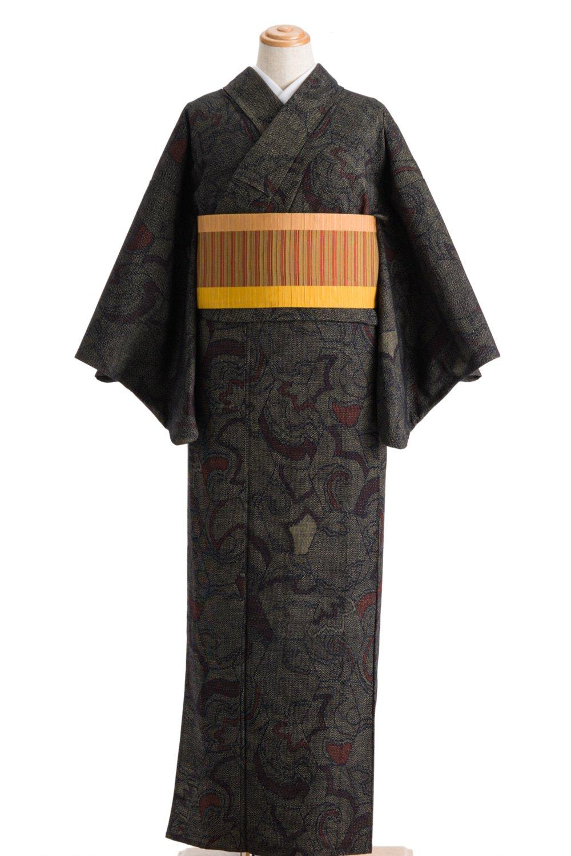 「単衣 紬 縦長亀甲」の商品画像