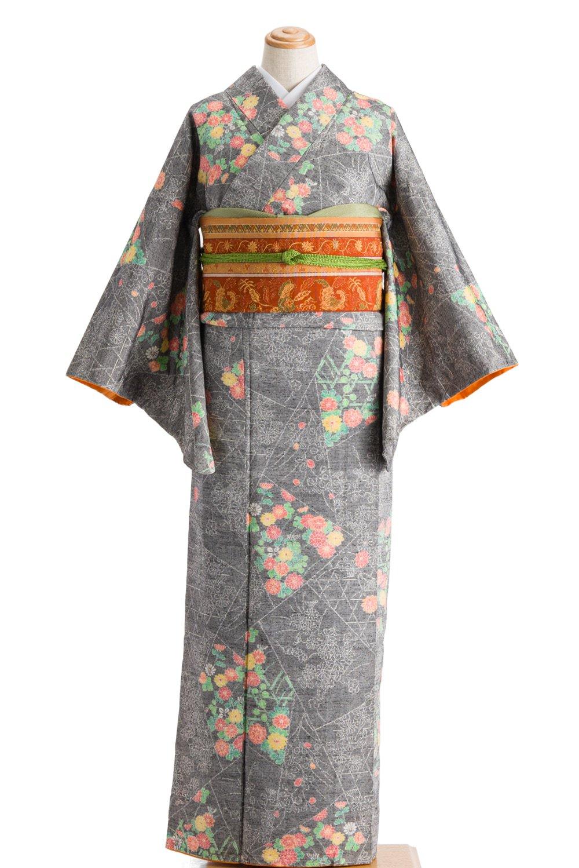 「紬 切嵌取りに菊花」の商品画像