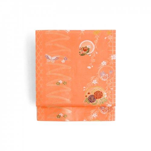丸に花 桜と蝶々のサムネイル画像