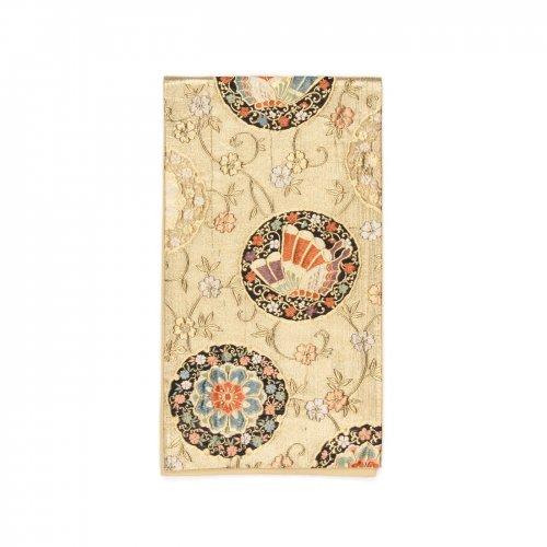 袋帯●花と揚羽蝶