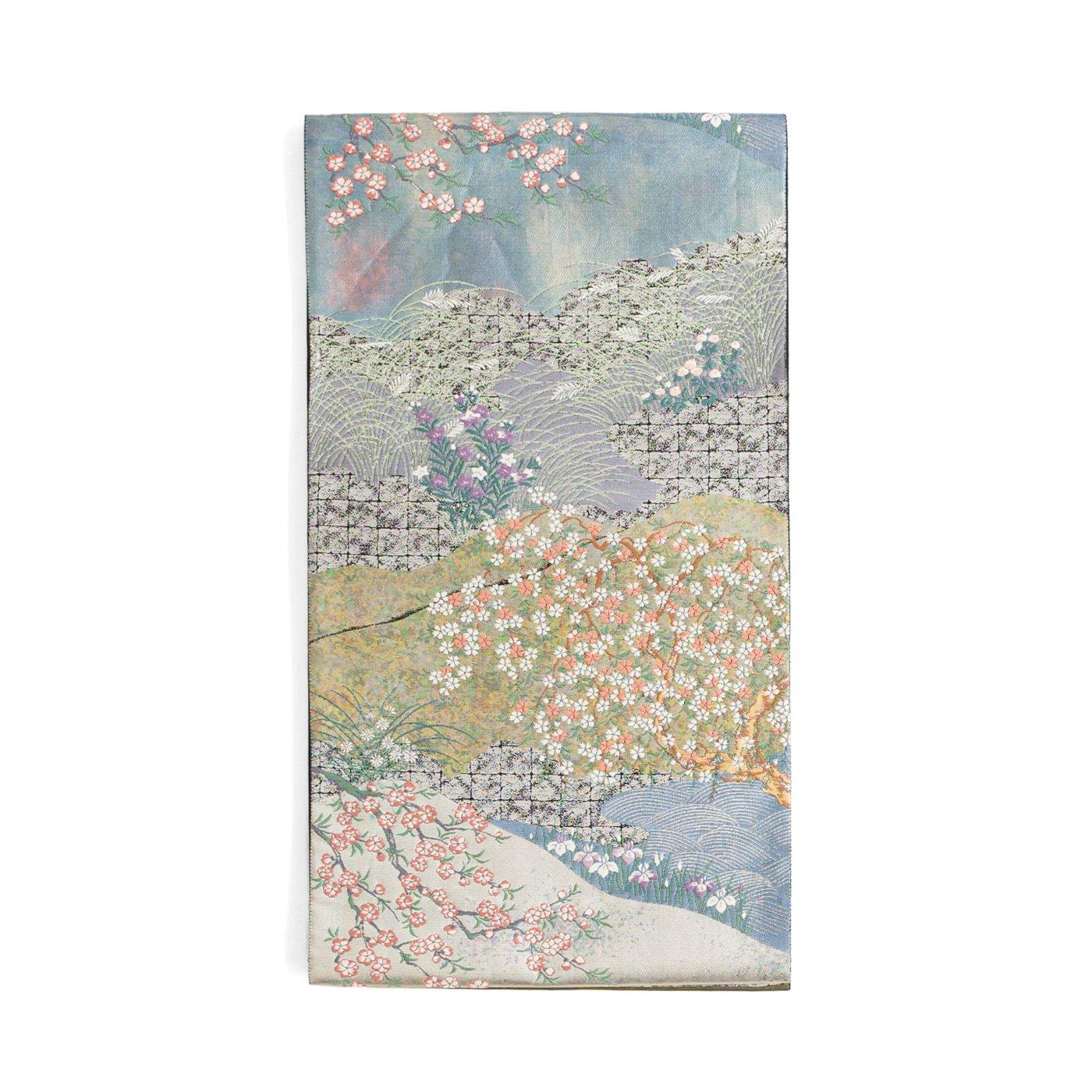 「袋帯●四季の移ろい 桜 菖蒲 菊 すすきなど」の商品画像