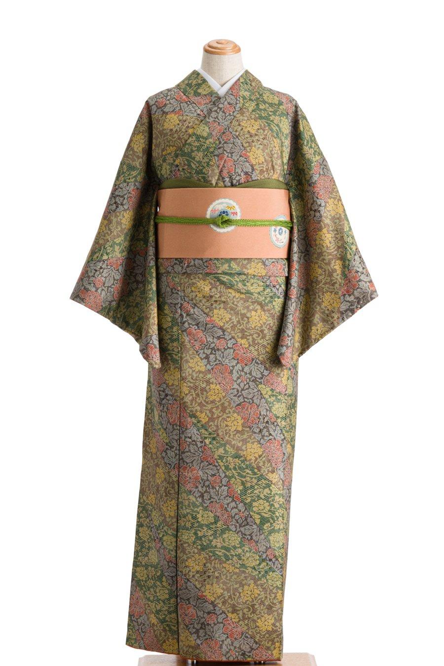 「染め紬 切り嵌め風 唐花」の商品画像
