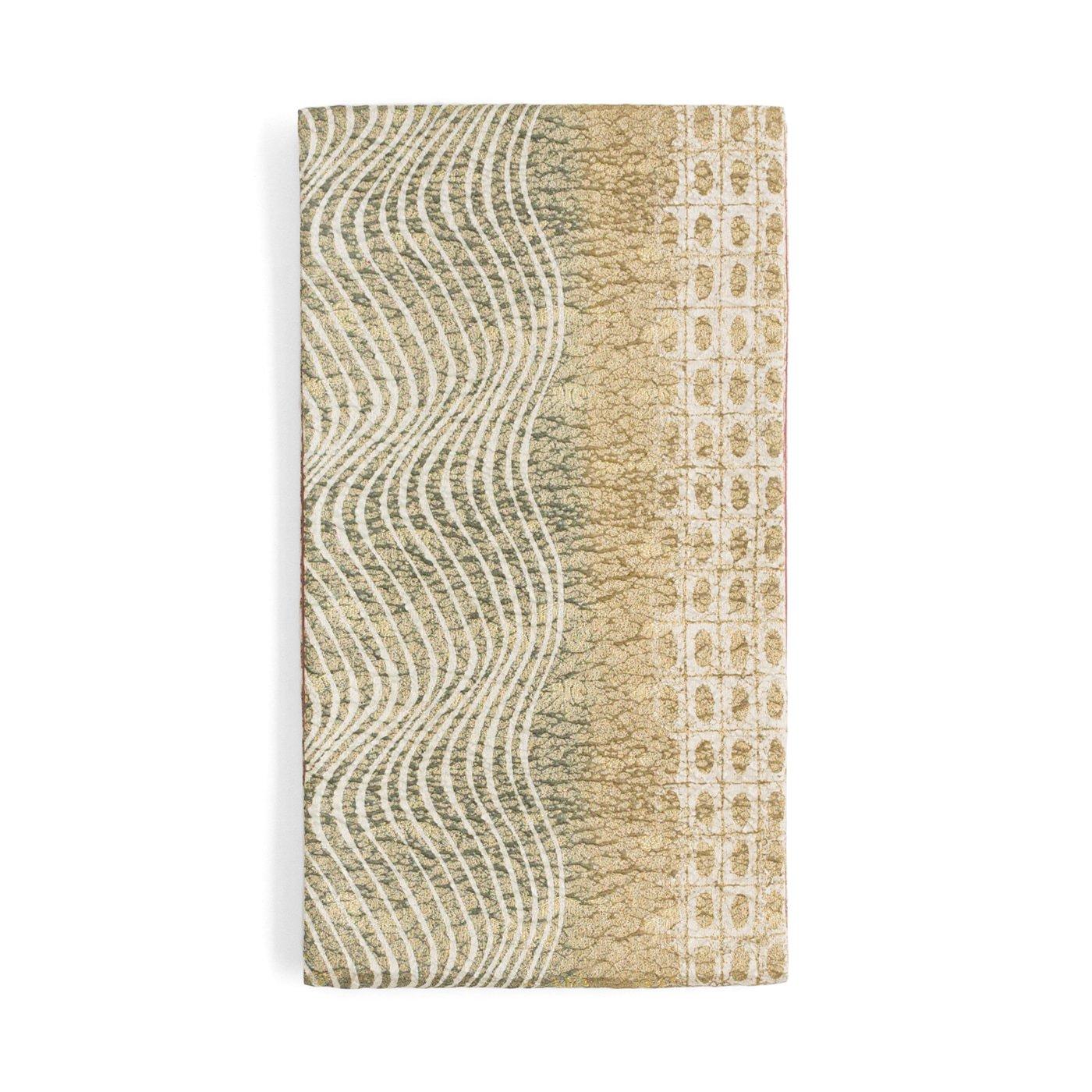 「袋帯●格子に丸とうねる縞」の商品画像