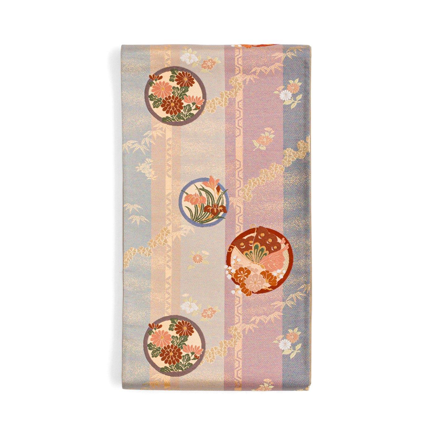 「袋帯●丸に花と揚羽蝶」の商品画像