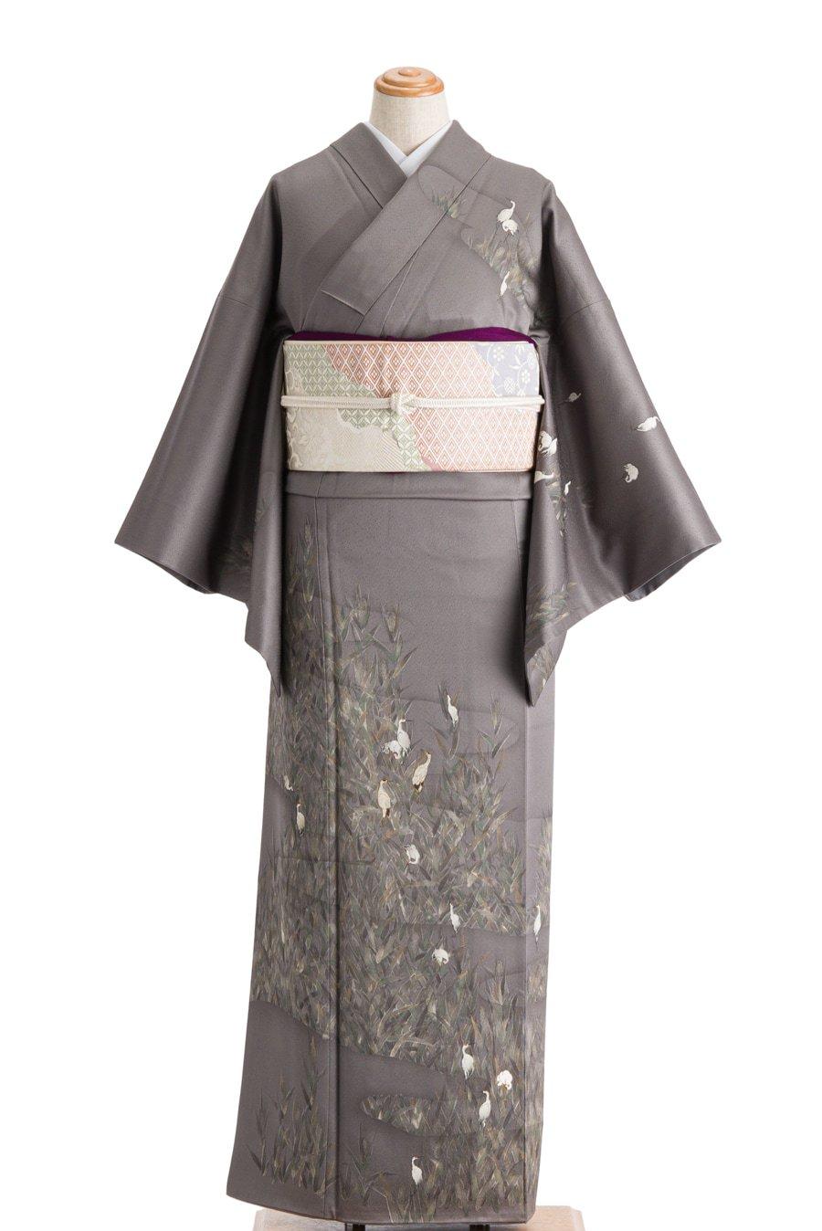 「訪問着 草陰の鶴」の商品画像