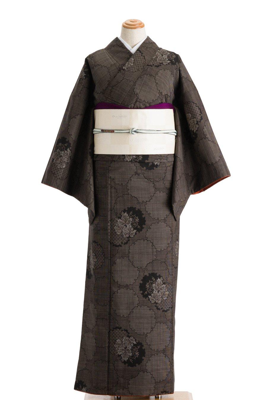 「大島紬 雪輪に葡萄」の商品画像
