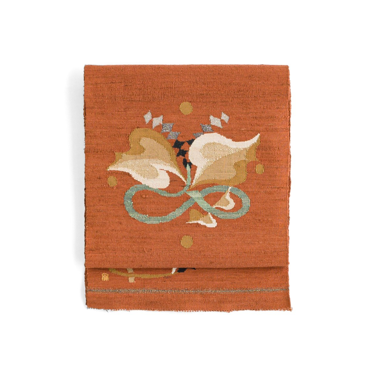 「紬 ギザギザの葉やダイヤ模様など」の商品画像