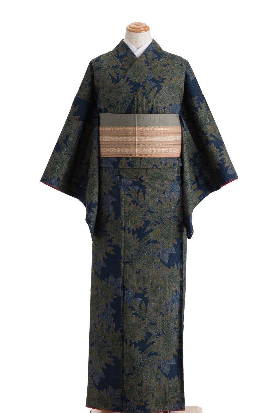 「紬 ダークカラーの菊」の商品画像
