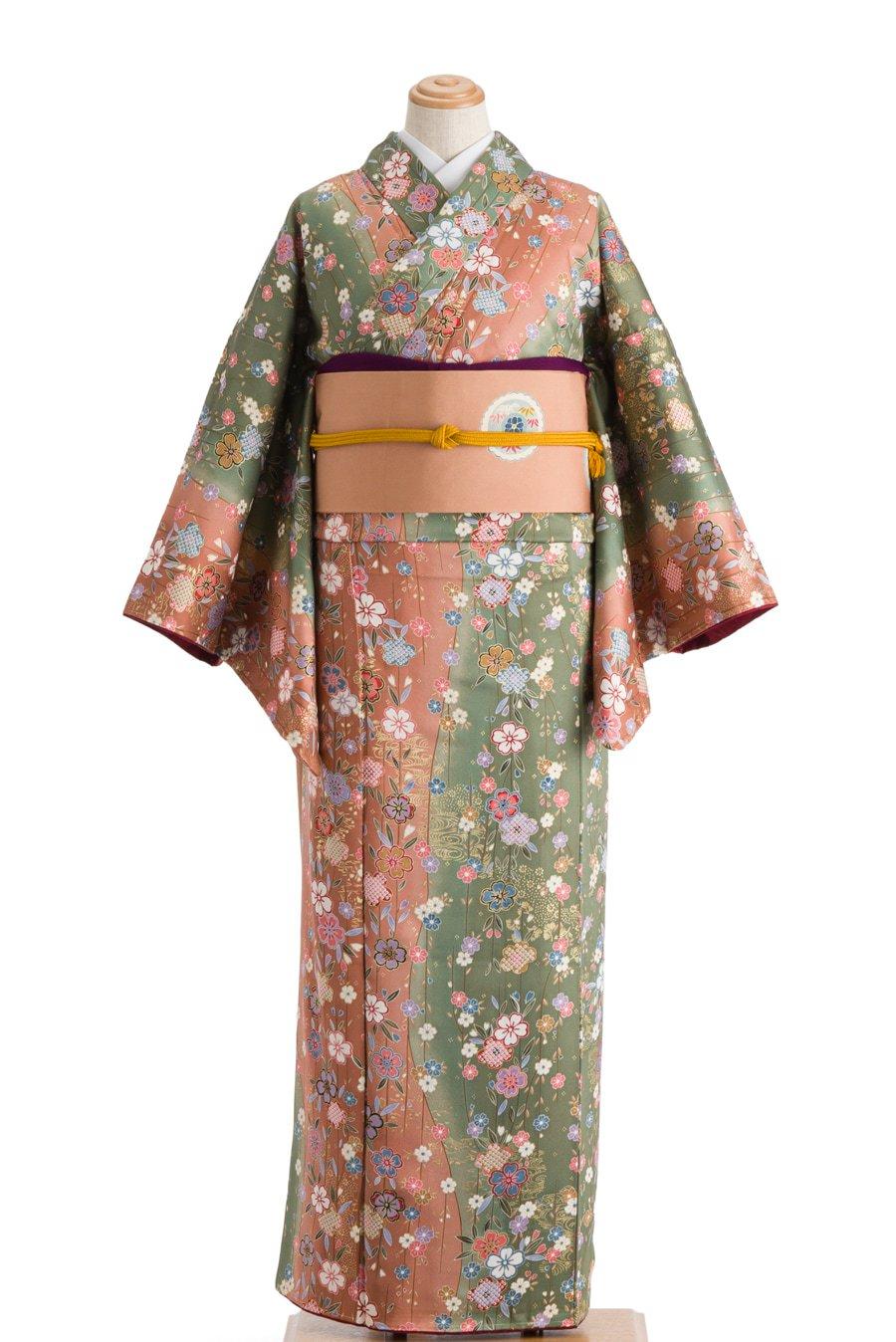 「二色の地に枝垂れ桜」の商品画像