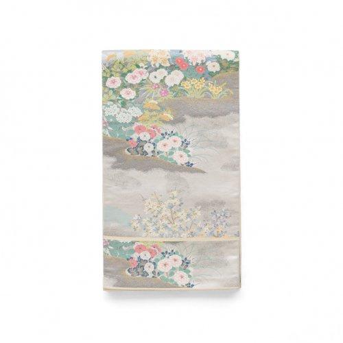 袋帯●水辺の花のサムネイル画像