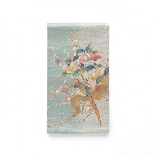 袋帯●花と雉のサムネイル画像