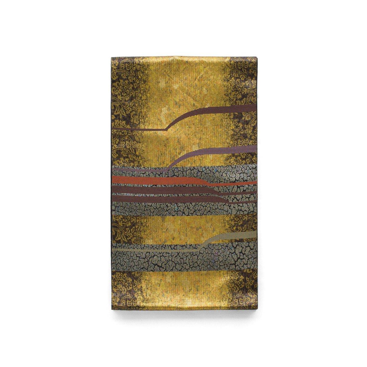 「袋帯●金地にモダンなライン」の商品画像