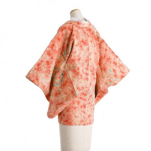 総絞り 翡翠色の花のサムネイル画像