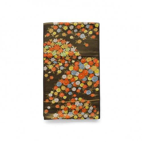 袋帯●金黒地に小花のサムネイル画像
