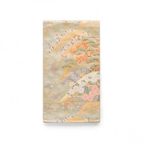 袋帯●山並に四季花のサムネイル画像