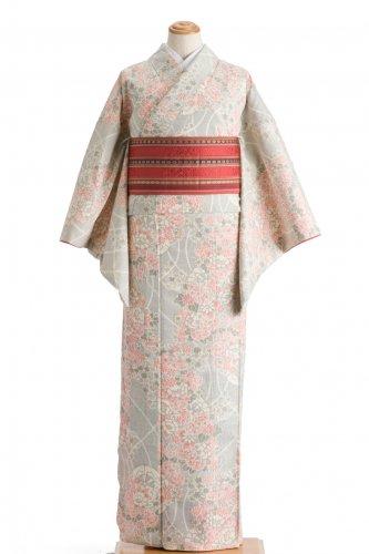 紬 牡丹や菊 花車のサムネイル画像