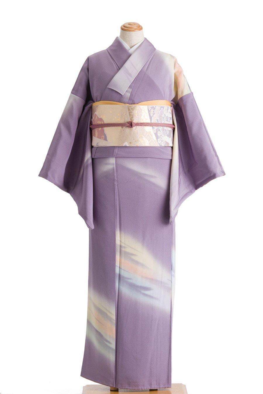 「藤紫の地 朝焼けのような暈し」の商品画像