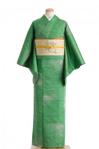 単衣 紬 グリーン暈しのサムネイル画像