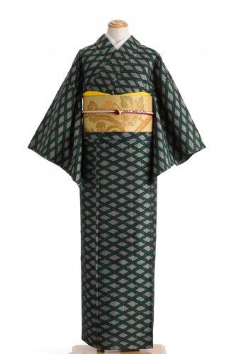 単衣 紬 網目格子のサムネイル画像