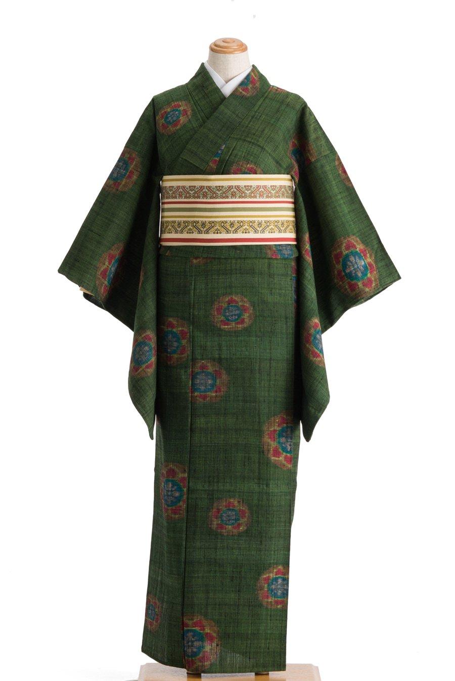 「単衣 セミアンティーク 花丸」の商品画像