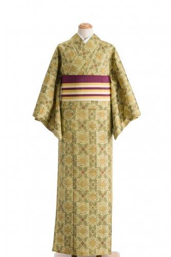単衣 紬 丸と四角の華紋のサムネイル画像
