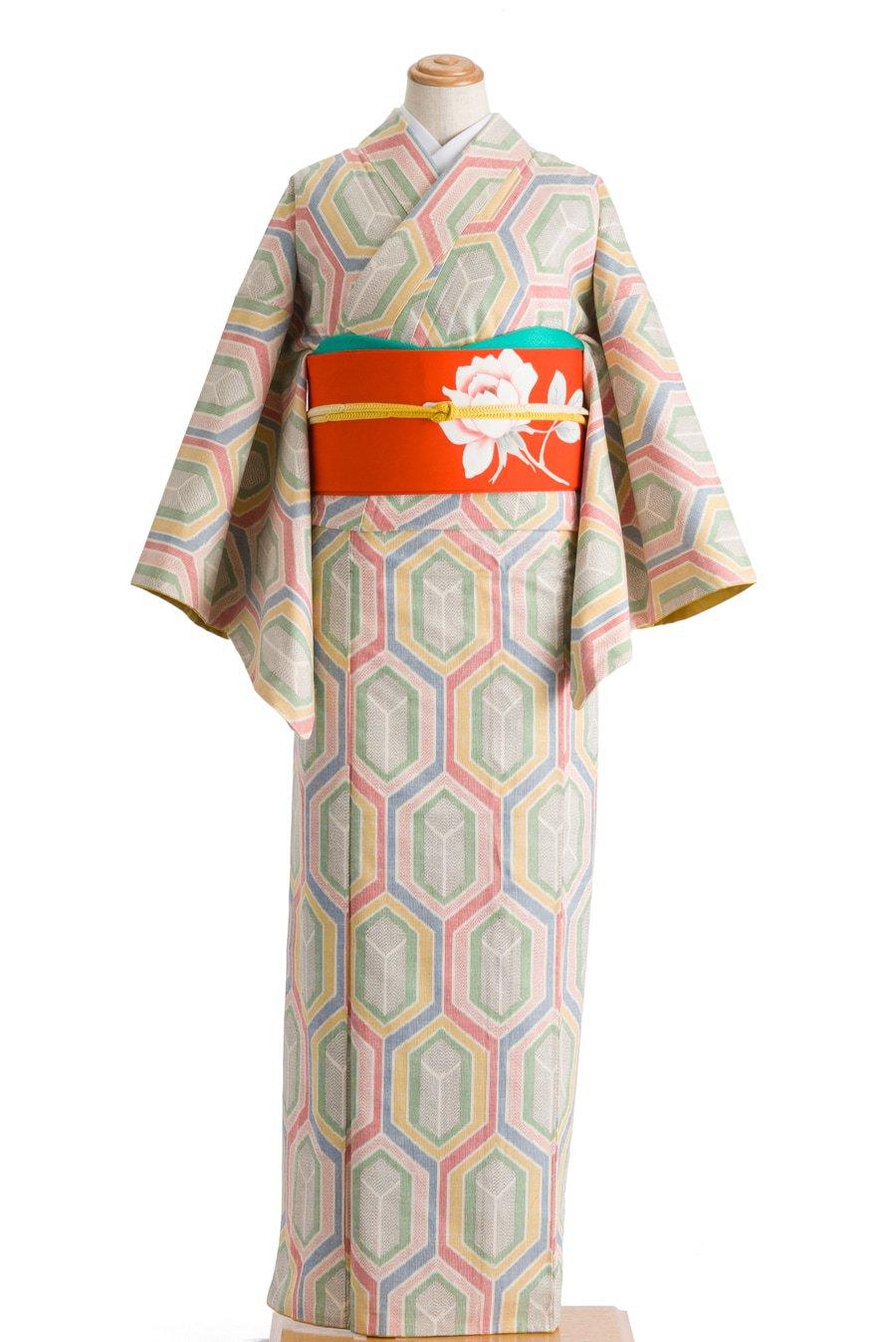 「紬 虹色亀甲」の商品画像