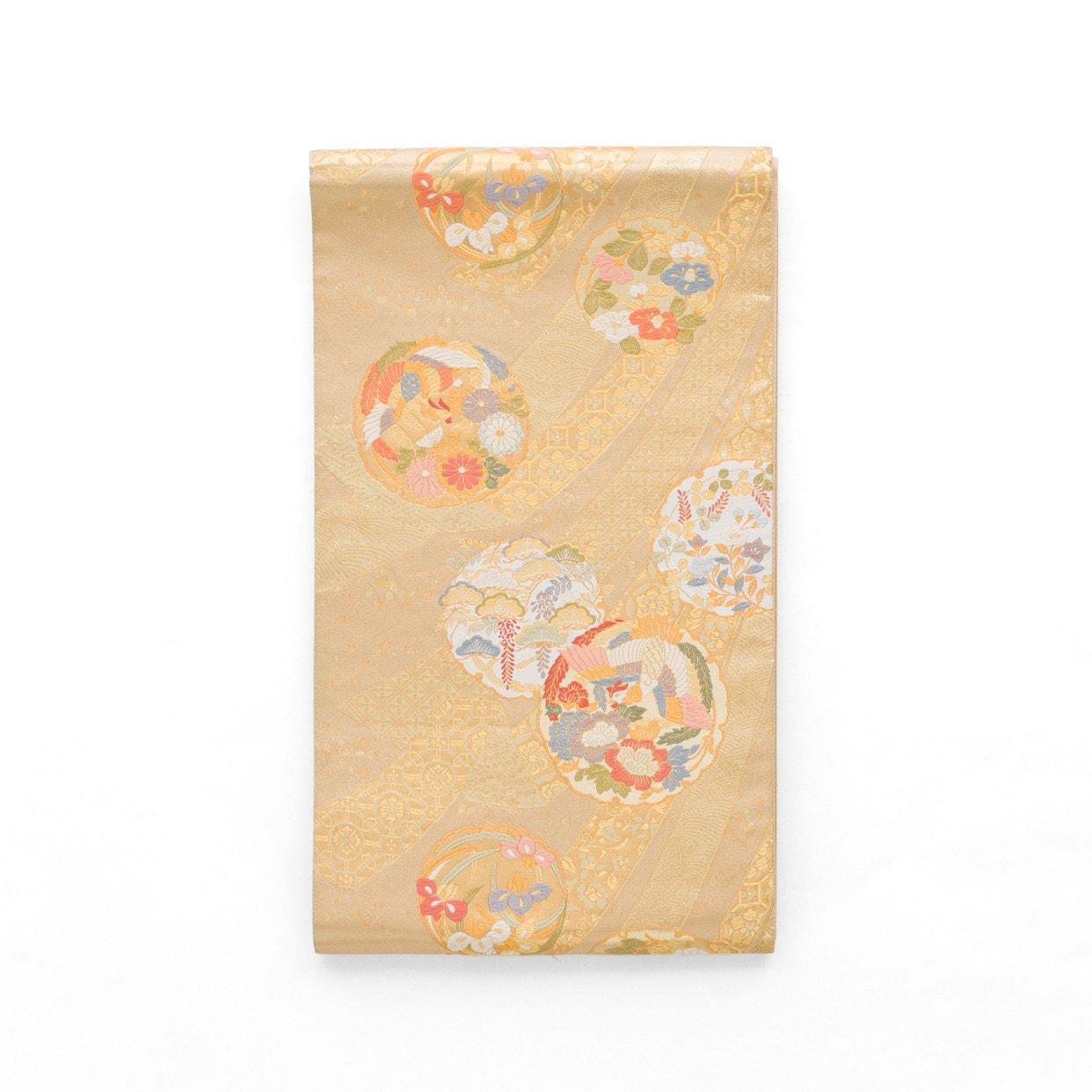 「袋帯●束ね熨斗に雪輪」の商品画像