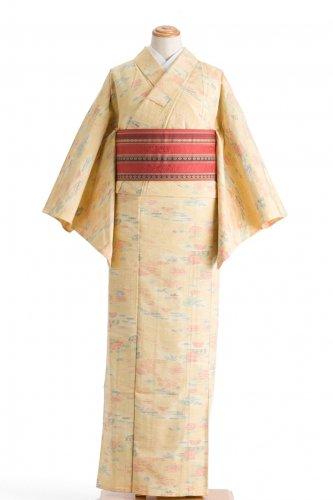 単衣 薄黄色に菊のサムネイル画像