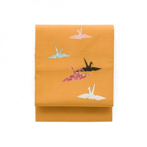 夏帯 絽 折り鶴