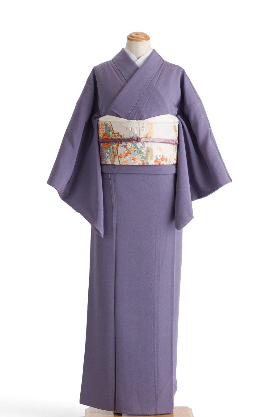 「色無地 一つ紋 紫苑色」の商品画像