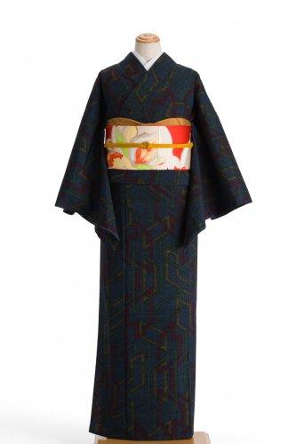 単衣 紬 クリップのような柄のサムネイル画像