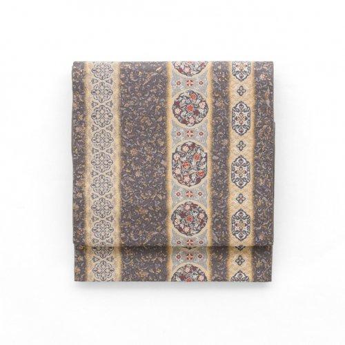 京袋帯 藤紫地に華紋のサムネイル画像