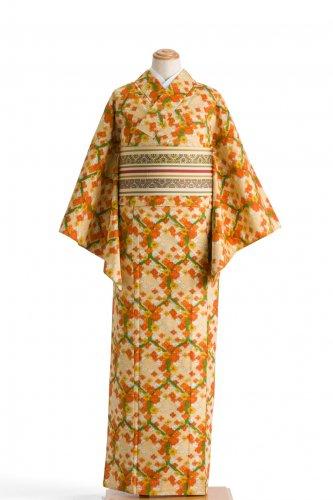 単衣 紬 亀甲と花のサムネイル画像